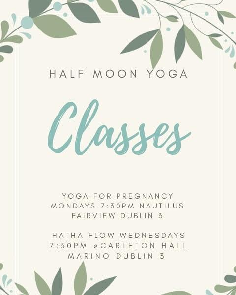 Half Moon Yoga - Pregnancy Yoga - Nautilus Beauty and Spa - Fairview Dublin